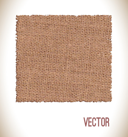 sacking: Brown fabric texture for background. Texture sack sacking country background.Vector illustration.