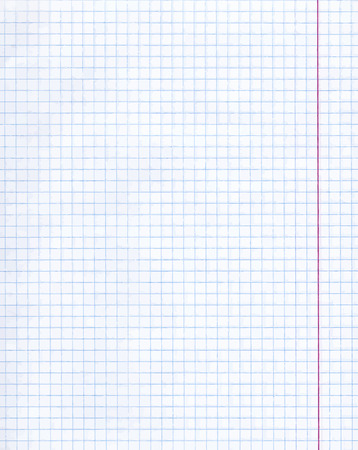 Blank exercise book paper sheet. Exercise book paper one page in square for math, vector illustration. 矢量图像