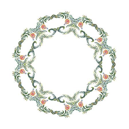 ukrainian: Ukrainian wreath Illustration