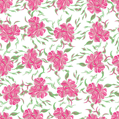 soulful: Seamless pattern with pink flower