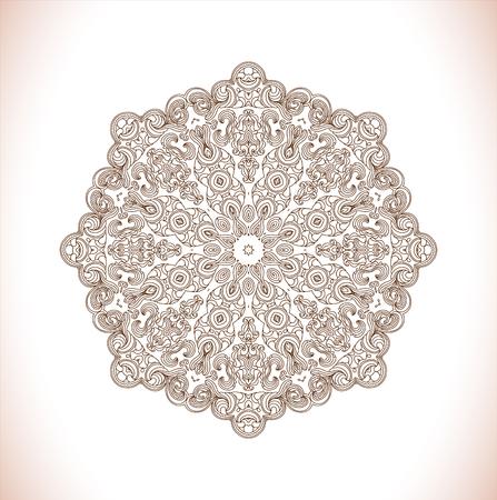 oriental vector: Mandala. Vector ethnic oriental circle ornament. Monochrome colors. Vector design.