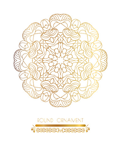 Traditional golden decor on white background.Oriental vector gold pattern. Abstract golden ornament. Vector illustration