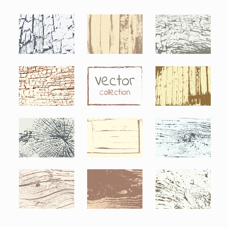 wood textures: Wood textures template. Wood backgrounds set. Vector natural wooden background