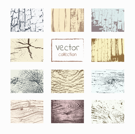 wood textures: Wood textures template. Wood backgrounds set. Vector natural wooden background.