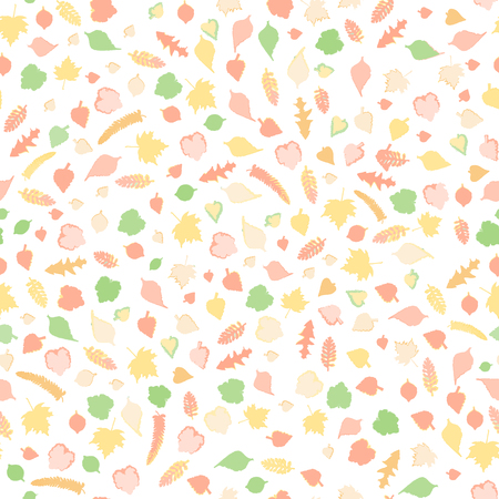 leaf illustration: Autumn leaves. Romantic seamless floral pattern. Seamless pattern with colored autumn leaves. Raster version