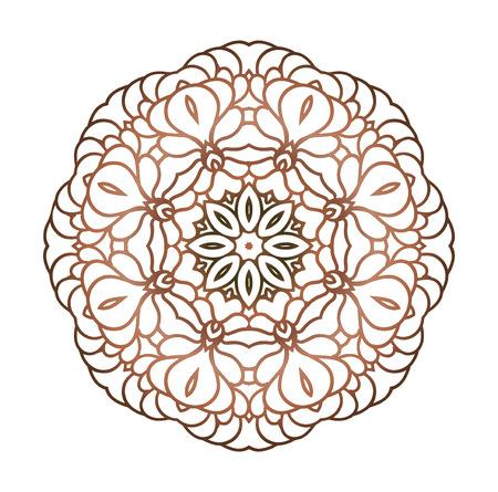 Kreismuster von traditionellen Motiven und alten orientalischen Ornamenten. Hand gezeichnet Hintergrund. Kann für Banner, Einladung, Hochzeit Karte und andere verwendet werden. Round Ornament-Muster. Standard-Bild - 49765775