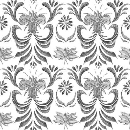 elegance: Abstract elegance seamless pattern with floral background.