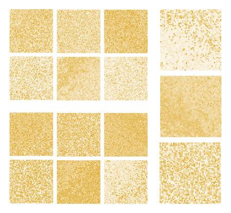Mustard mosaic set. Abstract mustard pixel mosaic background. Abstract background with mustard texture. Mustard Color