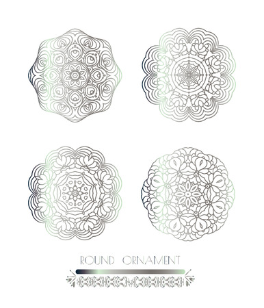 argentum: Traditional silver decor. Oriental silver pattern.