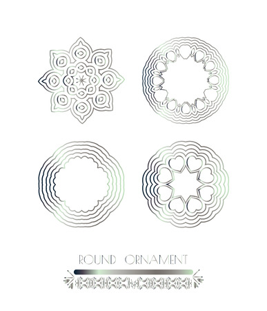 argentum: Abstract silver ornament. Stock Photo