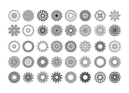 Kreisförmigen Muster von traditionellen Motiven und alten orientalischen Ornamenten. Hand gezeichnet Hintergrund. Standard-Bild - 55318273