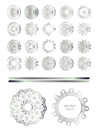 argentum: Silver ornament  vintage  pattern. Hand drawn abstract background.
