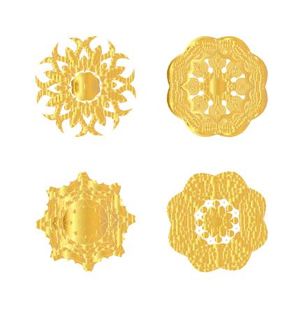 oriental vector: Oriental vector gold pattern. Abstract golden ornament. Vector illustration.