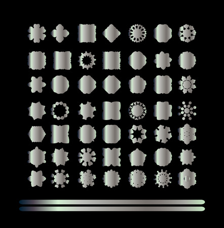 argentum: Traditional silver decor. Abstract vector silver ornament.