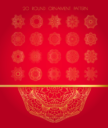 gold snowflakes: Set of gold snowflakes. Beautiful Christmas art background.