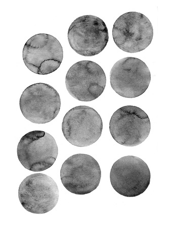 coffee stains: Coffee  stains isolated on white background. Coffee cup marks.