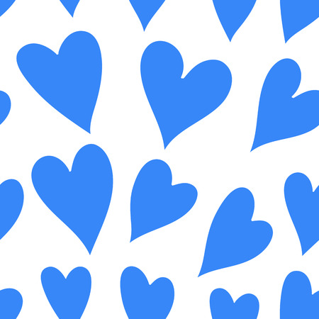 corazones azules: Light blue hearts on a white background.  Vector art illustration