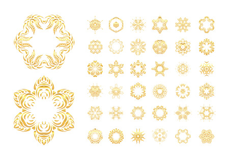 victorian frame: Ornament with gold. Elegant floral ornamental background with gold.  Gold illustration