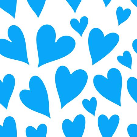 corazones azules: corazones de color azul claro sobre un fondo blanco.