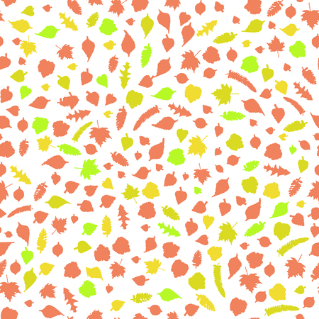 autumnal: Seamless pattern with leaves. Autumnal  decorative  backdrop Stock Photo
