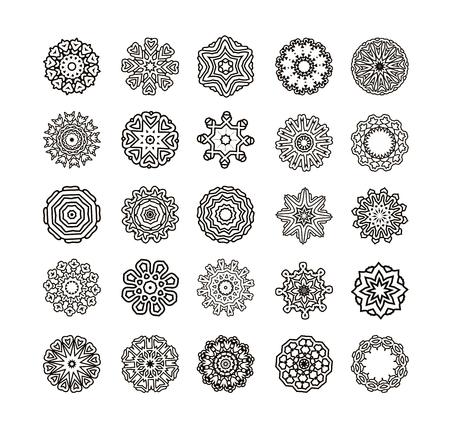 motifs: Geometric ornament made in vector. Circular pattern of traditional motifs