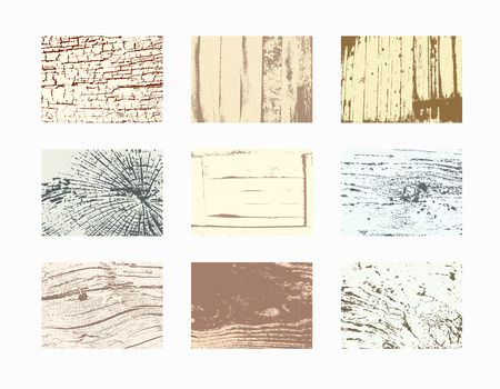 wood textures: Wood textures template. Vector natural wooden background.