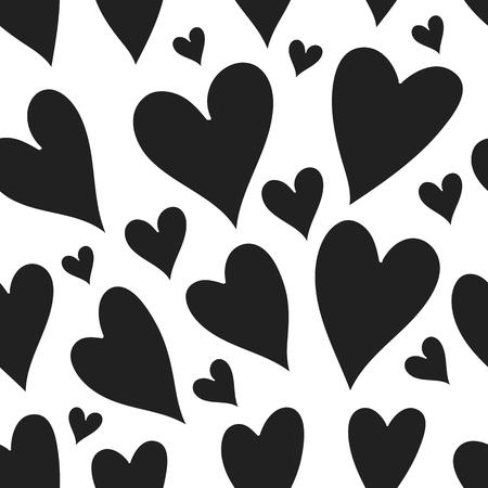 sin patrón de corazones de color rosa. Fondo del día de San Valentín