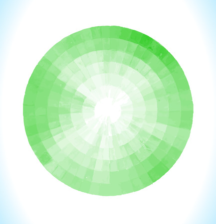 Green watercolor design element  isolated on white background. Light green painted vector stain.  Green vector isolated watercolor paint circle Illustration