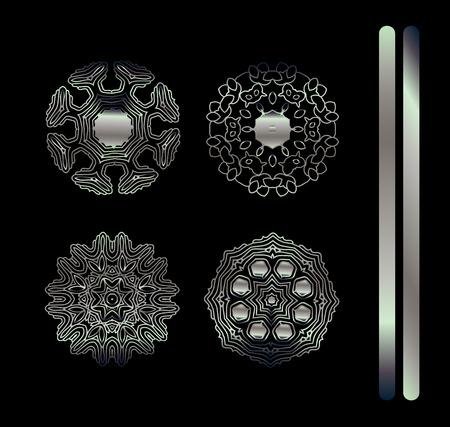 Vector ornamental border frame. Mandala vintage decorative elements. Illustration