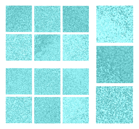 Abstract square pixel mosaic background. Art set Stock Photo