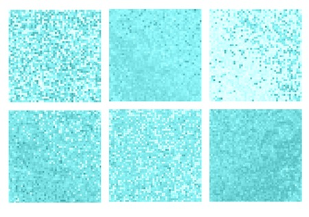Abstract square pixel mosaic background. Abstract art background Stock Photo
