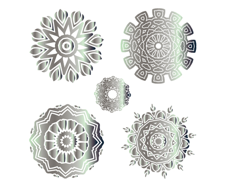 vintage: Hand drawn abstract background. Vintage pattern. Silver circle texture.