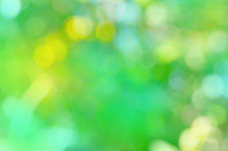추상 봄 배경입니다. 녹색 및 파랑 추상 defocused 배경입니다. 에코 친화적 인 자연 개념입니다.