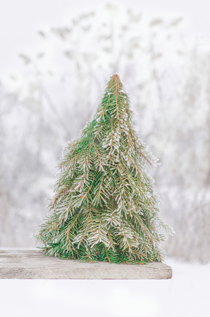 stock photo styrofoam cone cover fir tree branches make a cone christmas tree based on warp a cardboard or styrofoam cone creative christmas tree ideas - Christmas Tree Branches