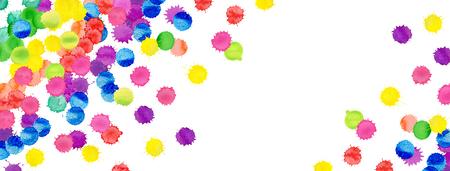 Colorful art splashes illustration isolated on white background.