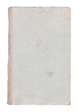 Old book vintage book cover. Isolated old book. Blank old book cover isolated on white.