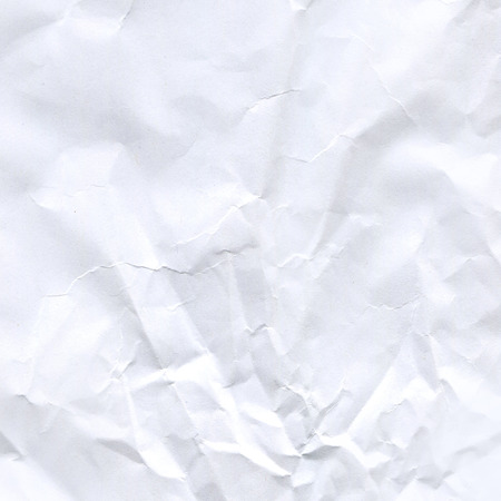 Wrinkled paper background. Close up crumpled white paper texture 스톡 콘텐츠