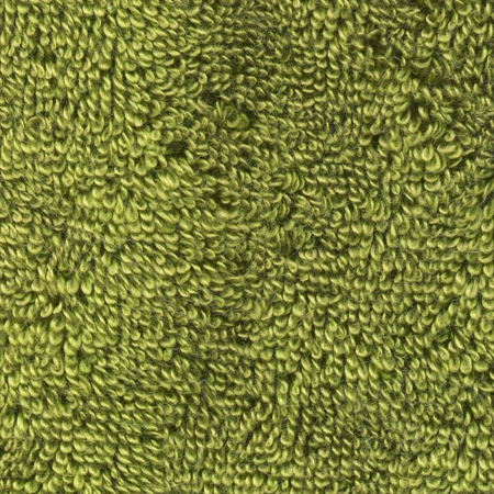 Green fabric towel background. Green towel texture Stock Photo