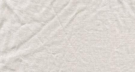 White linen canvas. Natural linen white background Stock fotó