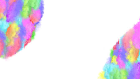 Colorful smoke with empty place. Colorful smoke with empty place for text. Banner for website header design 免版税图像