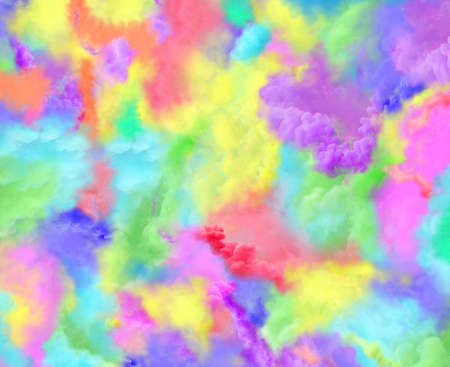 Fire smoke design. Multicolor smoke background. Colored powder frozen dust explosion texture.