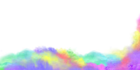 Abstract smoke for design. Abstract Holi colorful smoke concept. Wide format banner. Panoramic web banner.