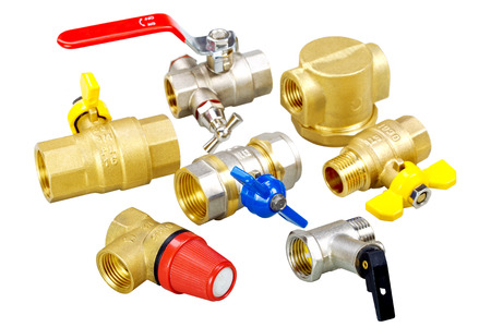 technologically: composition plumbing fixtures, valves, fittings Stock Photo