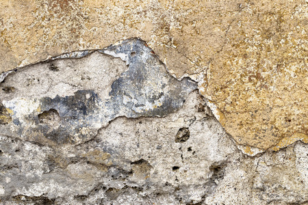 Old grunge brick wall and plaster photo