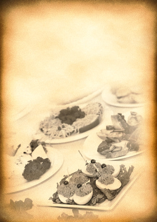 Old paper background for creative design vintage restaurant menu  photo