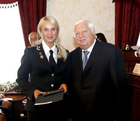 coup: ODESSA, UKRAINE - AUGUST 22: Former Attorney General Victor Pshonka after coup obvlen criminal. Working visit-August 18, 2012 in Odessa, Ukraine Editorial