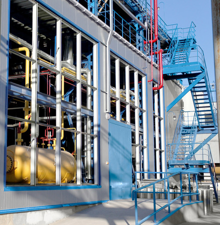 refinery engineer: Equipment, cables and piping industrial plant