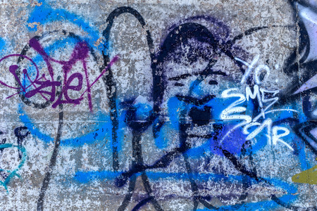 graffity: Beautiful street art graffiti. Abstract creative drawing fashion colors on the walls of the city. Urban Contemporary Culture
