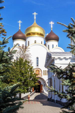 Ukrainian Orthodox Church of the Moscow Patriarch, Holy Assumption Odessa Patriarchal Monastery. This is one of the main attractions of the city Banco de Imagens