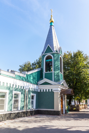Ukrainian Orthodox Church of the Moscow Patriarch, Holy Dormition Odessa Patriarchal Monastery. This is one of the main attractions of the city. Banco de Imagens